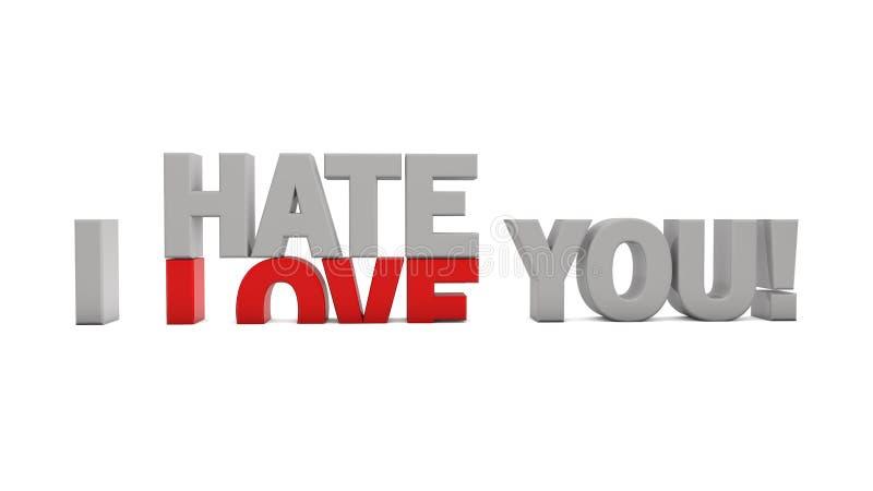 Je vous déteste et je t'aime images stock