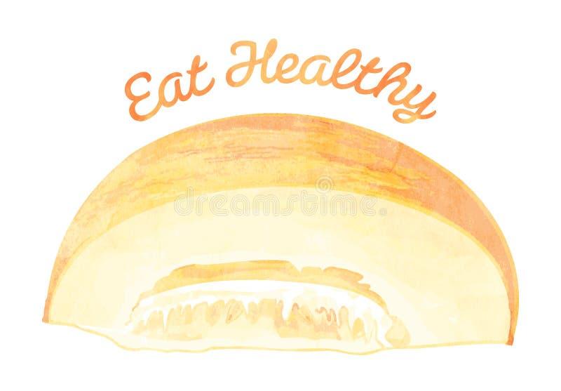 Je Zdrowego - melon royalty ilustracja