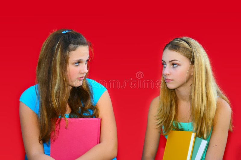 Download Jealousy stock photo. Image of brunette, daughters, friends - 1253322