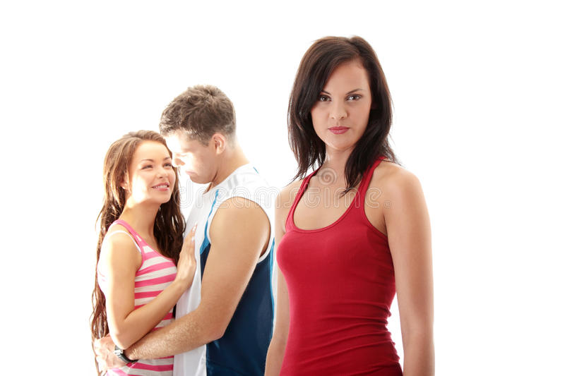 Download The jealousy girl stock image. Image of female, lovers - 15420735