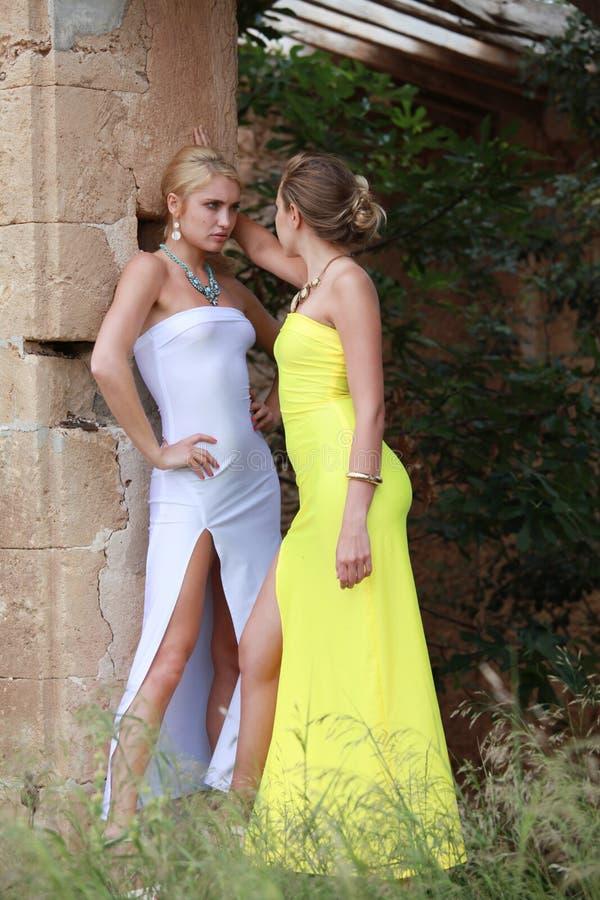 Jealousy between two women stock photography