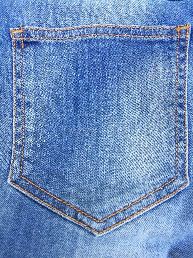 Jean back pocket background stock photo
