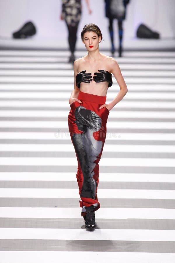 Jean-Charles de Castelbajac Fashion Show Runway royalty free stock photography