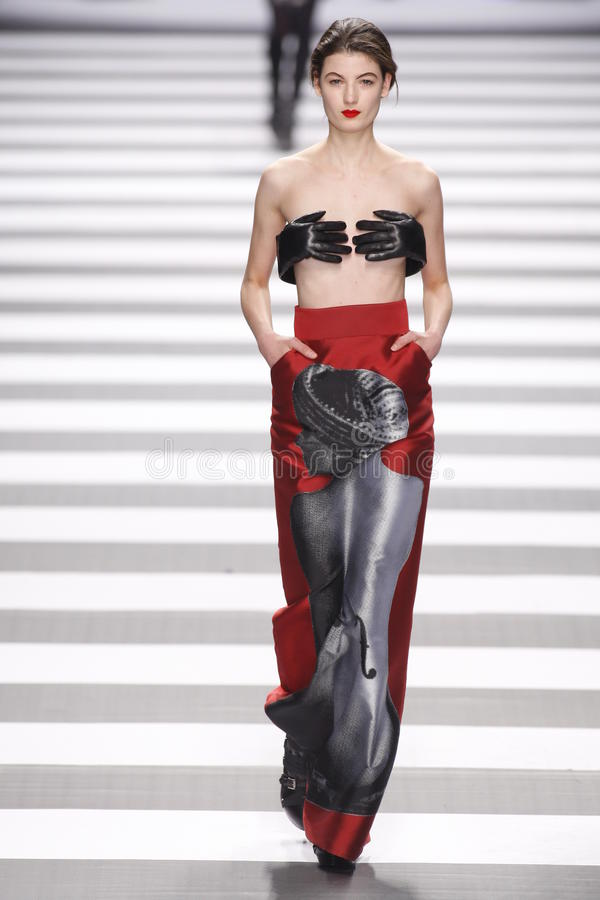 Jean-Charles de Castelbajac Paris Fashion Week stock afbeelding