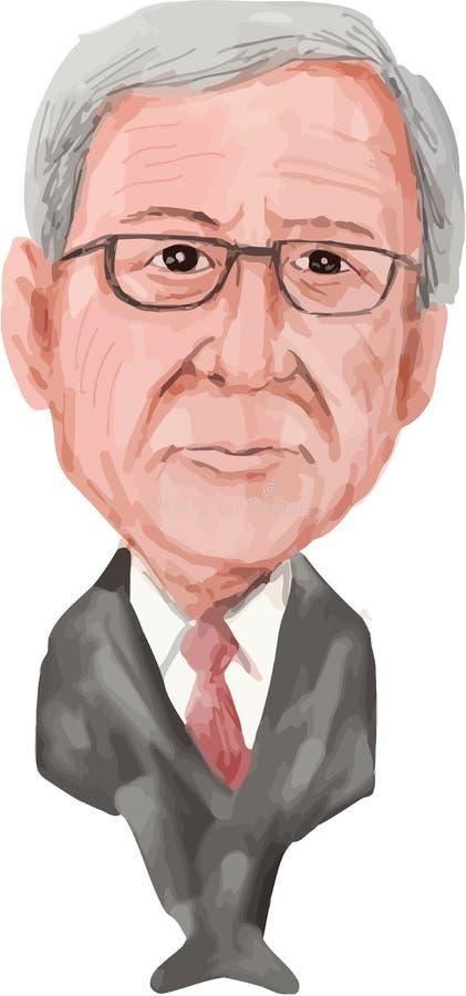 Jean-Claude Juncker prezydent Europejska prowizja ilustracja wektor
