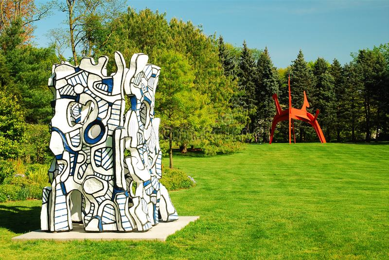 Jean Dubuffet`s Kiosque l`evide. A sculpture by Jean Dubuffet, entitled Kiosque l`evide is on display at the PepsiCo world headquarters in Purchase, New York stock photo