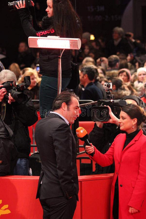 Jean Dujardin - τα άτομα μνημείων στοκ φωτογραφία με δικαίωμα ελεύθερης χρήσης
