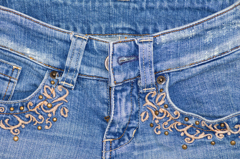 Jean with embroidery