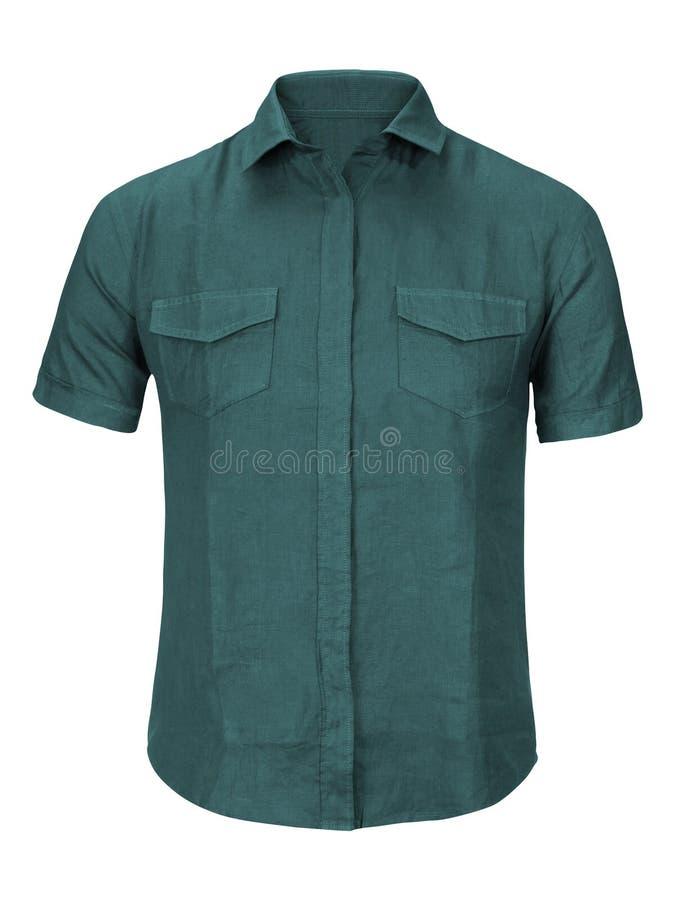 Jean-geïsoleerd overhemd royalty-vrije stock fotografie
