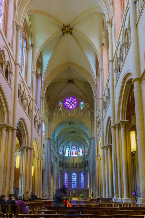 Jean katedra w Starym Lion, fotografia royalty free