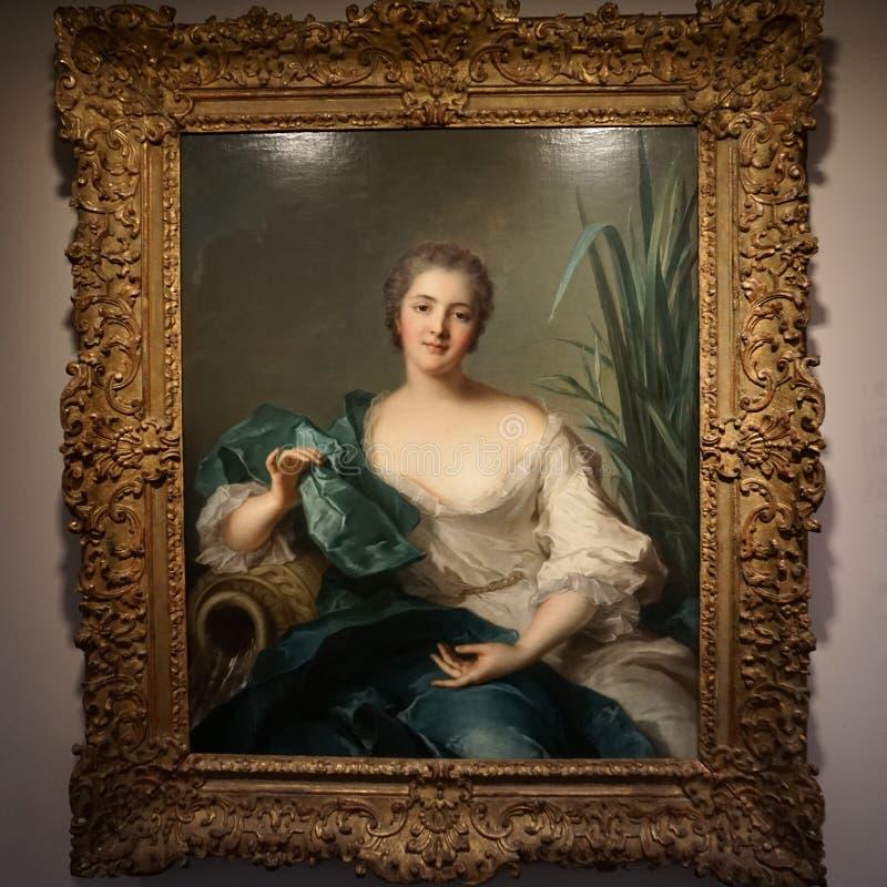 """Jean-Marc Nattier """"portrait de Madame Marie-Henriette Berthelot de Pleneuf """" images stock"""