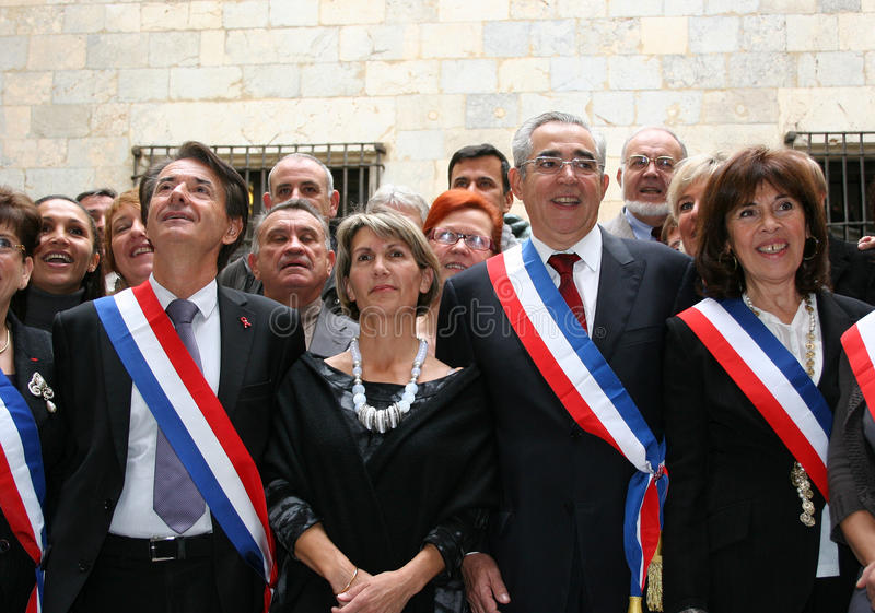 Jean-Marc Pujol, Elected Today Mayor Of Perpignan Editorial Image