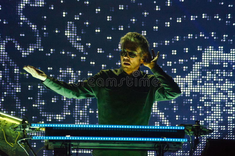 JEAN MICHEL JARRE - ΓΎΡΟΣ ELECTRONICA - ΛΟΣ ΆΝΤΖΕΛΕΣ - 27 ΜΑΐΟΥ 2017 στοκ εικόνες