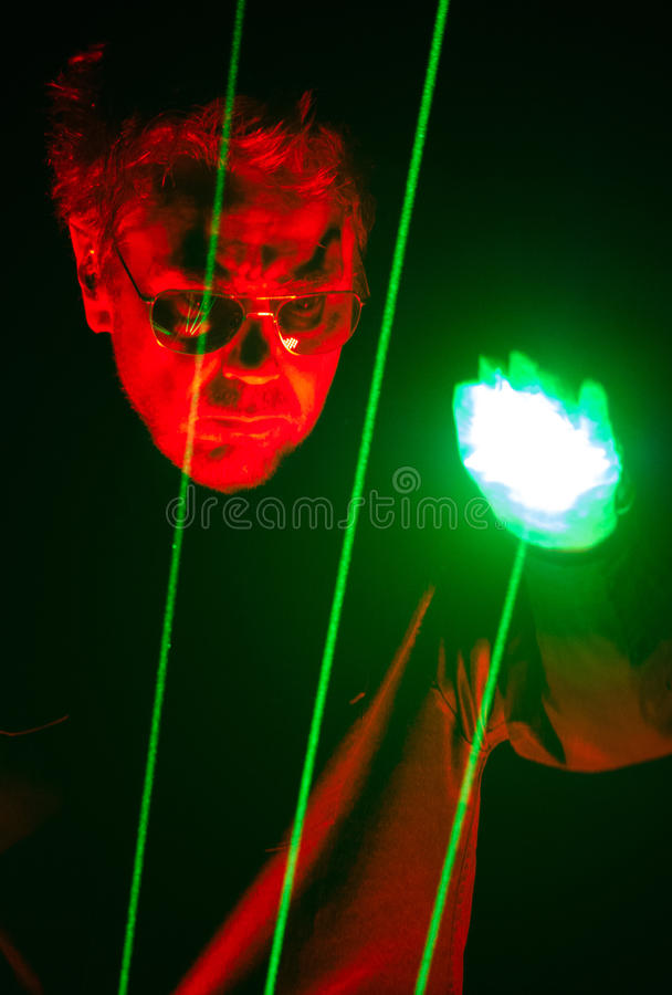 Free JEAN MICHEL JARRE - ELECTRONICA TOUR - LOS ANGELES - MAY 27 2017 Stock Photography - 93629032
