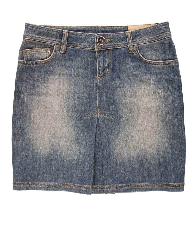 Jean mini- kjol arkivfoto