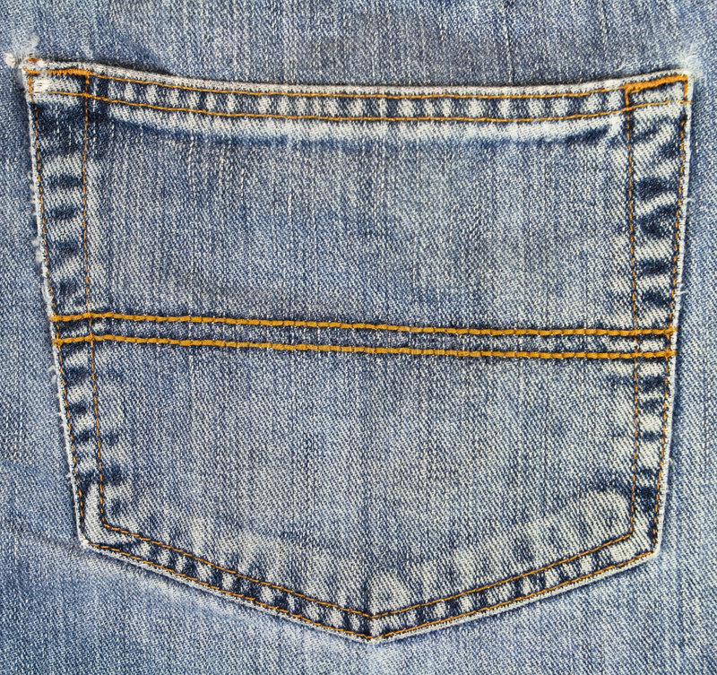 Free Jean Packet Background Stock Photography - 8306662