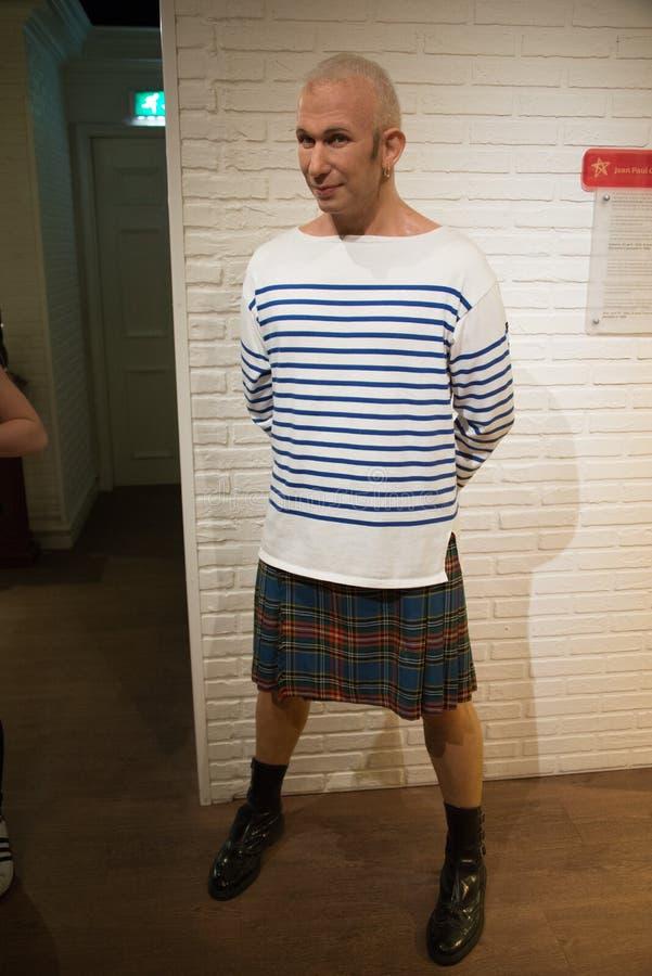 Jean-Paul Gaultier w muzeum Madame Tussauds zdjęcie stock