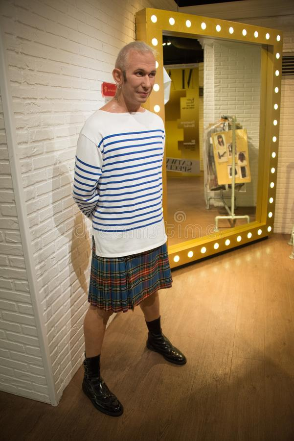 Jean-Paul Gaultier w muzeum Madame Tussauds obrazy royalty free