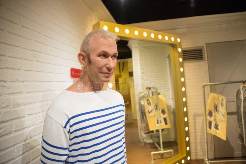 Jean-Paul Gaultier w muzeum Madame Tussauds fotografia stock