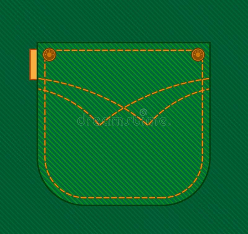 Jean pocket. royalty free illustration