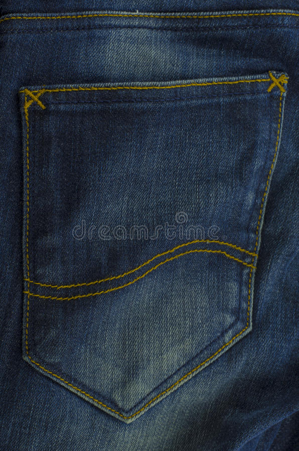 Free Jean Pocket Blue Color Background Royalty Free Stock Photography - 29672767