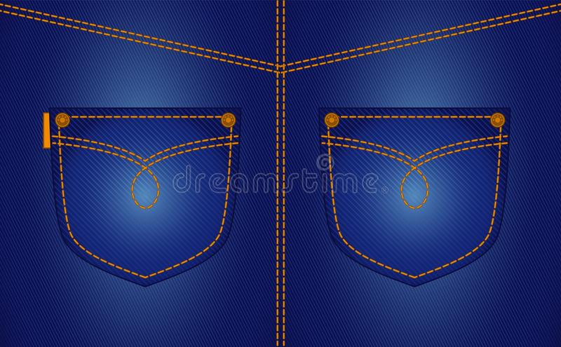Jean pockets stock illustration