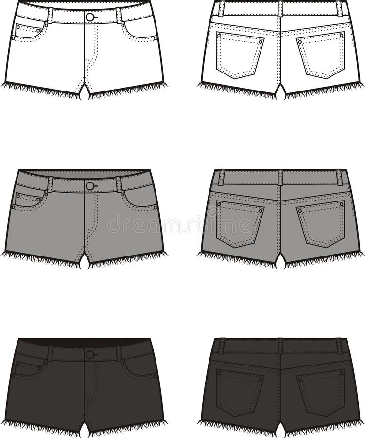 Jean shorts stock illustration