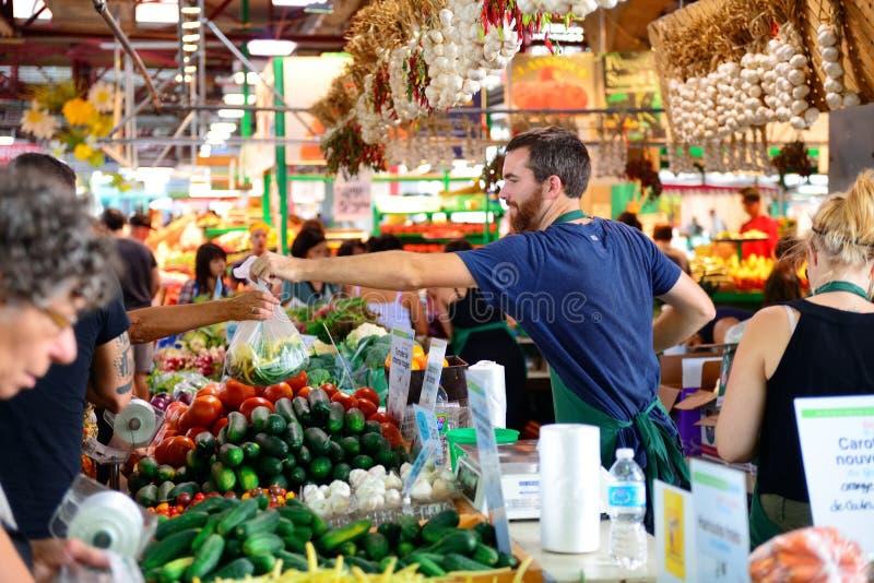 Jean-Talon Market foto de archivo libre de regalías
