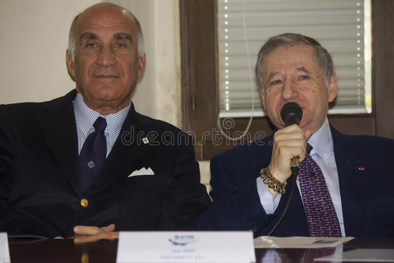 Jean todt portrait president fia and sticchi damiani royalty free stock photo