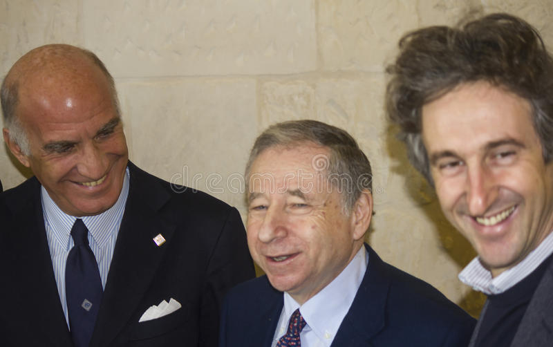 Jean todt smiling paolo perrone sticchi damiani royalty free stock photo