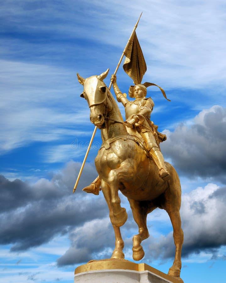 Jeanne D'Arc。 库存图片