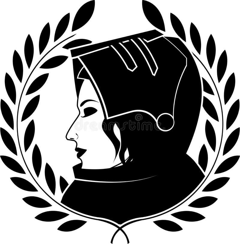 Jeanne darc och lagerkrans royaltyfria bilder