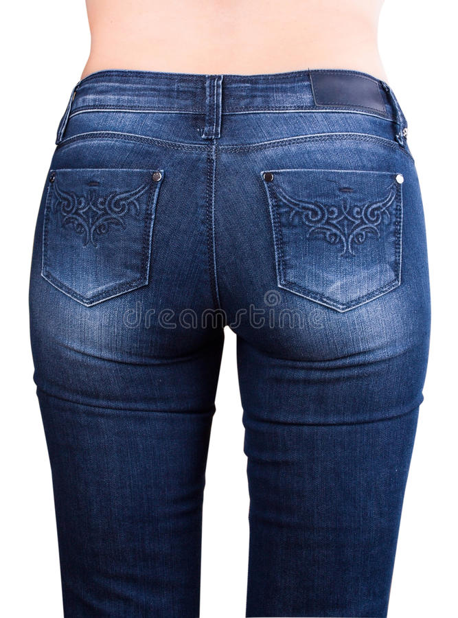 In jeans stock foto