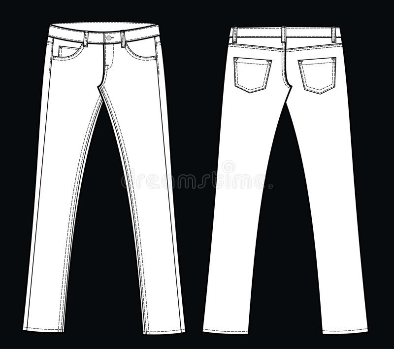 Download Jeans stock vector. Image of design, manufacture, jean - 16941143