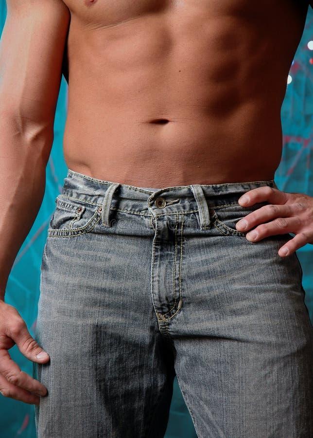 Download Jeans arkivfoto. Bild av mage, muskel, athirst, klyka, kondition - 523896