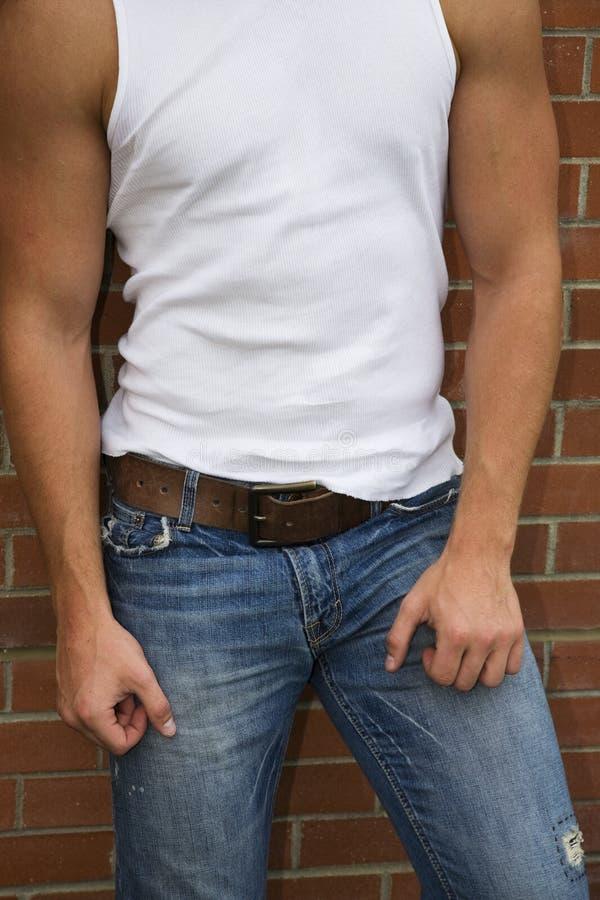 Jeans & Spier royalty-vrije stock afbeeldingen