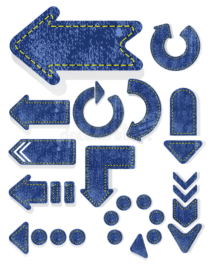 Download Jeans Arrows And Labels. Stock Photography - Image: 22371922