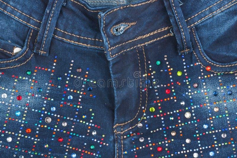 Jeans avec des poches en gros plan images stock