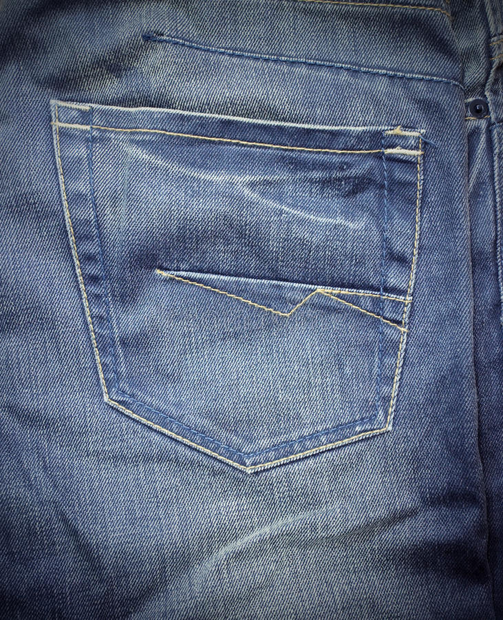 Download Jeans back pocket stock photo. Image of cotton, pants - 18497016