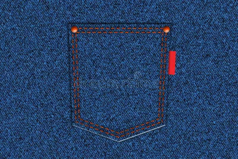 Jeans back pocket stock image
