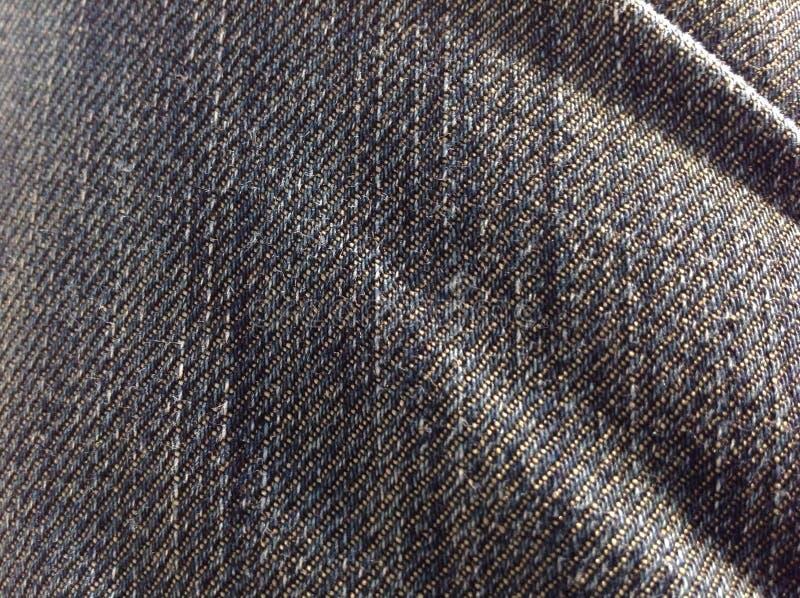 Jeans-Beschaffenheits-Makro lizenzfreies stockfoto