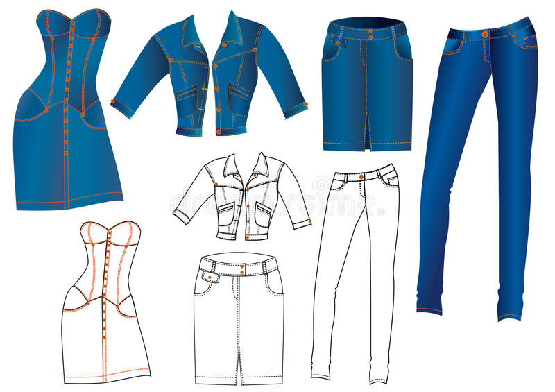 Jeans clothes stock image
