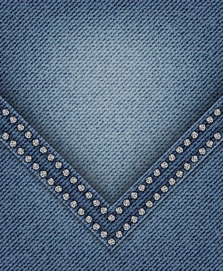Jeans con l'angolo illustrazione vettoriale