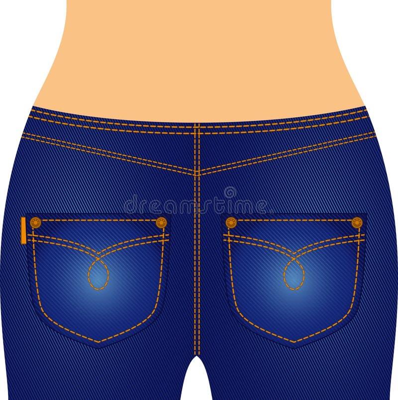 jeans con le caselle. illustrazione vettoriale