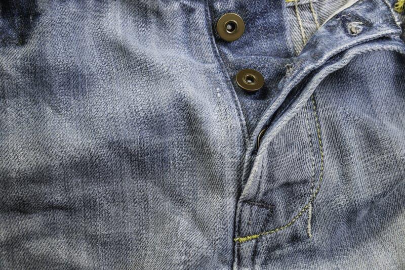 Jeans d'annata del denim di vecchio lerciume BAC cucito dei jeans del denim di struttura fotografia stock libera da diritti