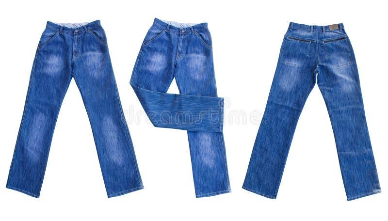 jeans d'isolement blancs images libres de droits