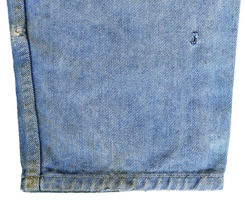 Jeans del denim isolati fotografie stock libere da diritti