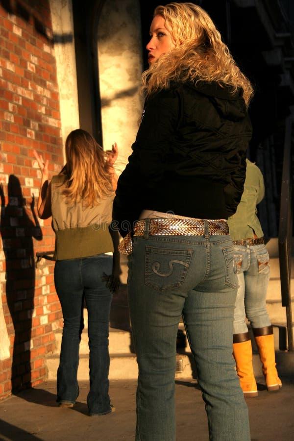 Jeans di alto modo fotografia stock
