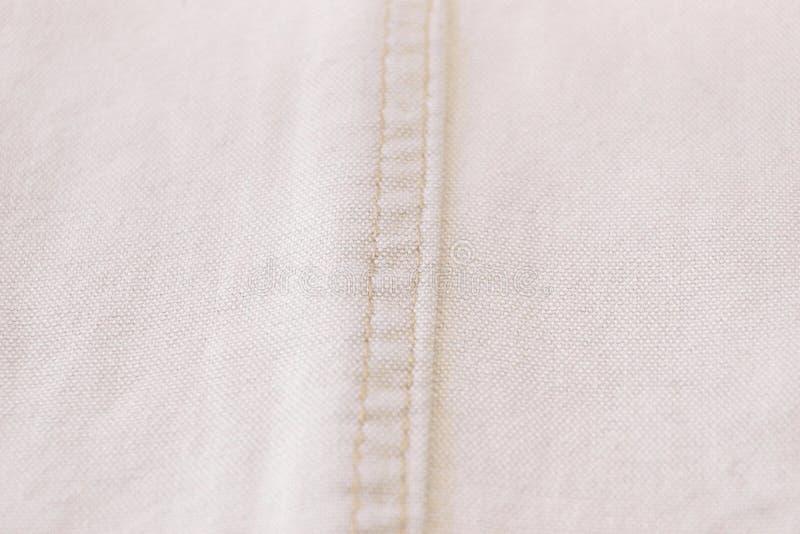 Jeans di bianco della tela di struttura immagini stock libere da diritti