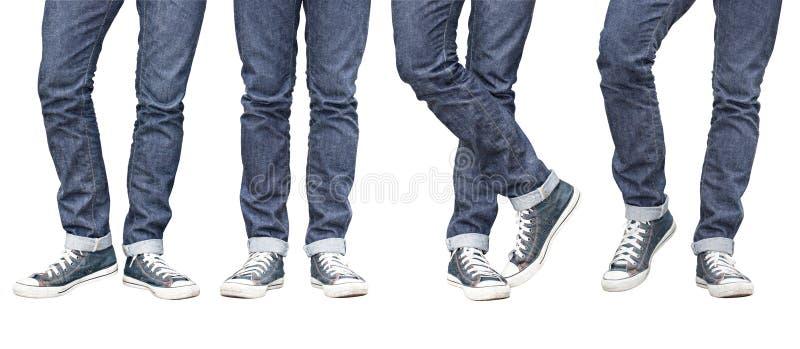 Jeans diritti adatti della gamba del Regular fotografie stock